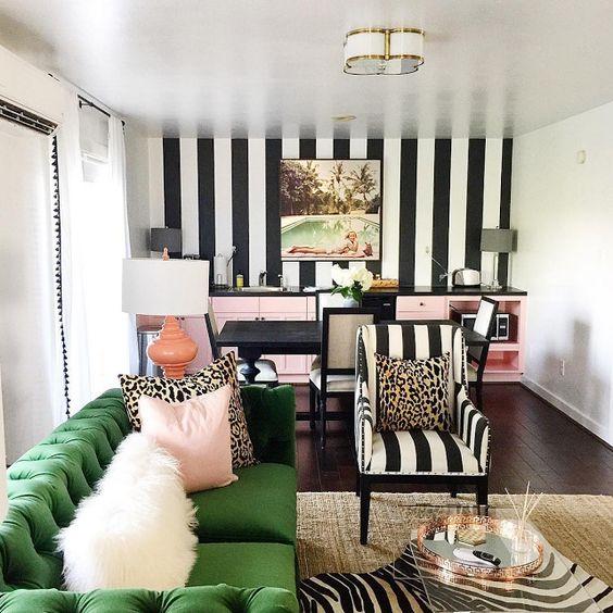 Salones decorados con papel pintado decoraci n hogar - Papel para salones ...