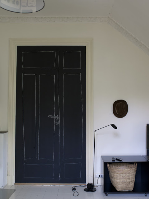 Puertas decoradas con pintura pizarra