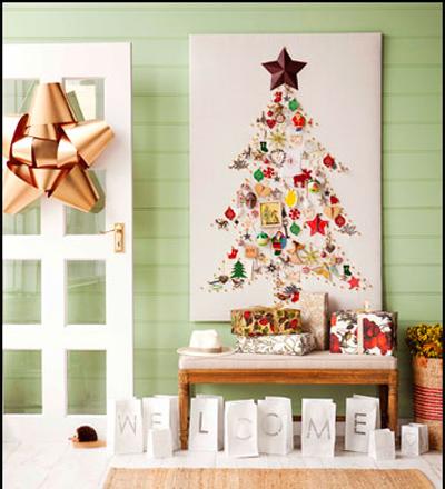 corona navidea de frutas recibidores navideos