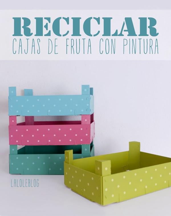 Cajas de frutas recicladas decoraci n hogar ideas y - Decoracion cajas de fruta ...