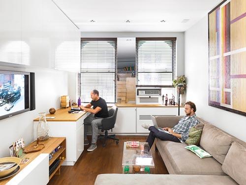 Reforma de un pequeño estudio en Manhattan