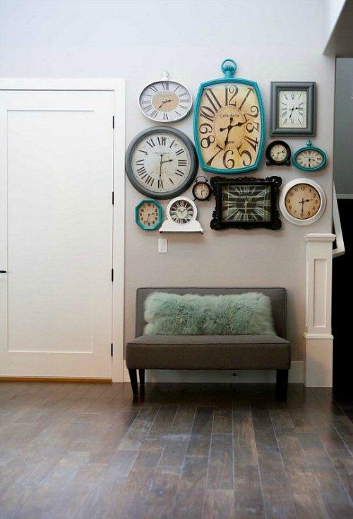 Decorar paredes con relojes decoraci n hogar ideas y - Relojes para salon ...