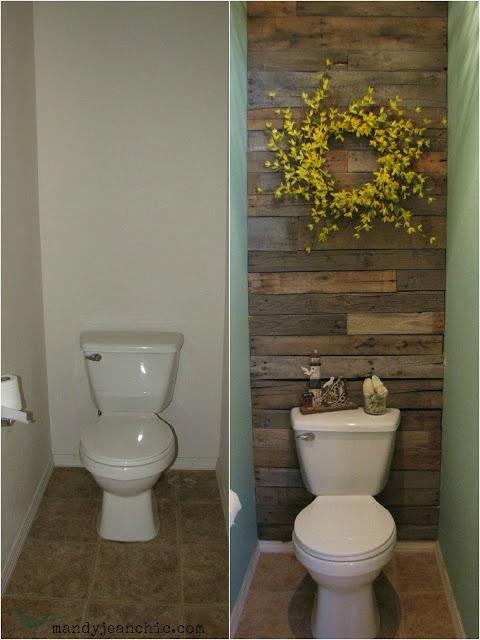 Baños Estilo Colonial:Baños renovados antes y después