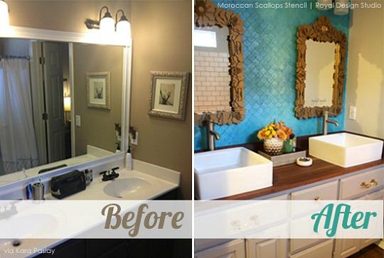 Baños renovados antes y después