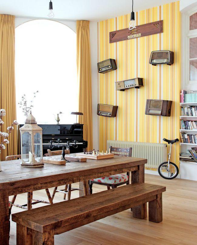 Apartamento de estilo vintage ecléctico