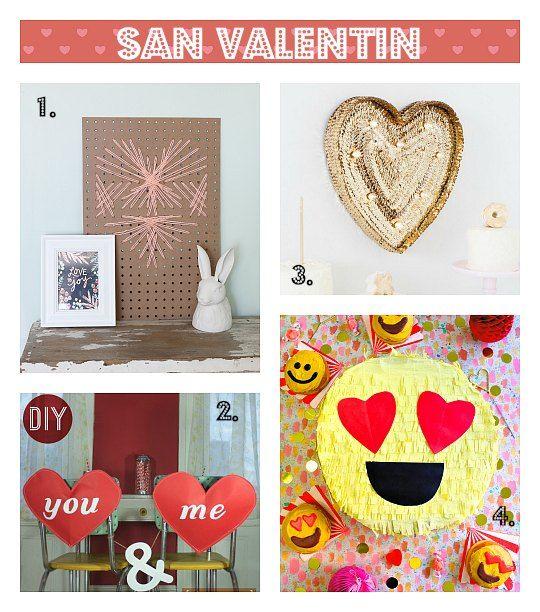 4 Manualidades decorativas para San Valentín