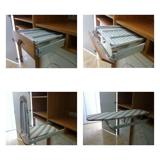 Soluciones para esconder la tabla de planchar