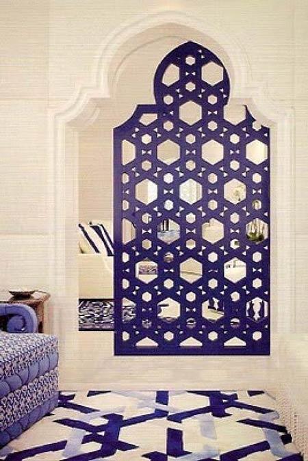 Inspiración Marroquí en blanco y azul