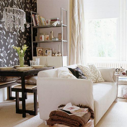 Salones con encanto - Decorar pared sofa ...