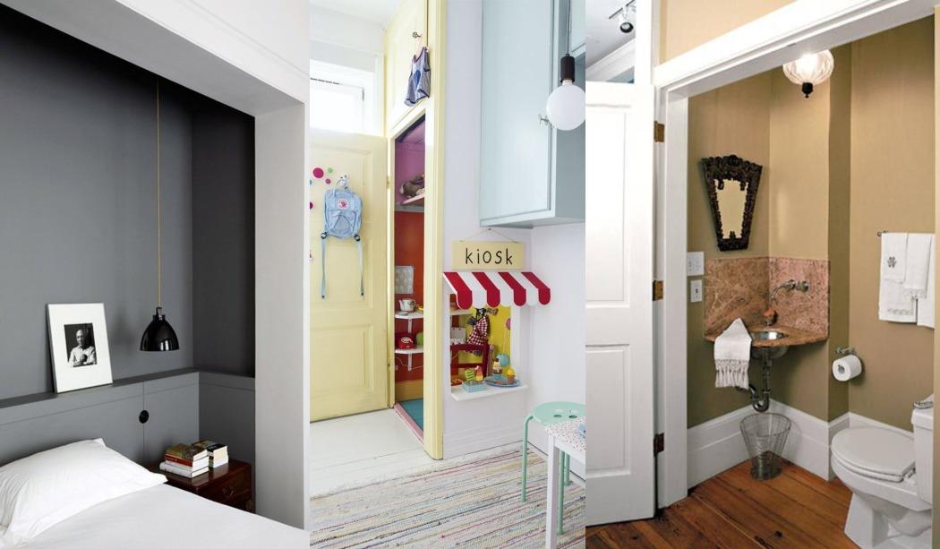 6 Ideas para convertir un armario empotrado