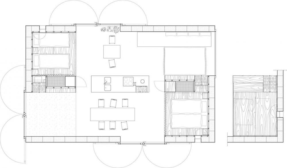 Granero familiar de 64 metros cuadrados