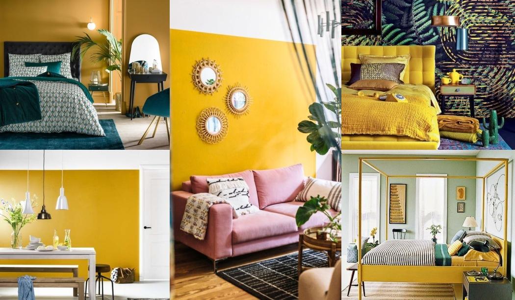 Amarillo mostaza en decoración y cómo combinarlo