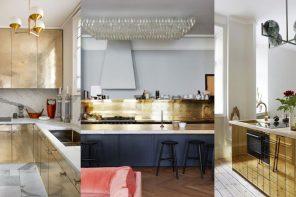 Cocinas Doradas * La tendencia con más glamour
