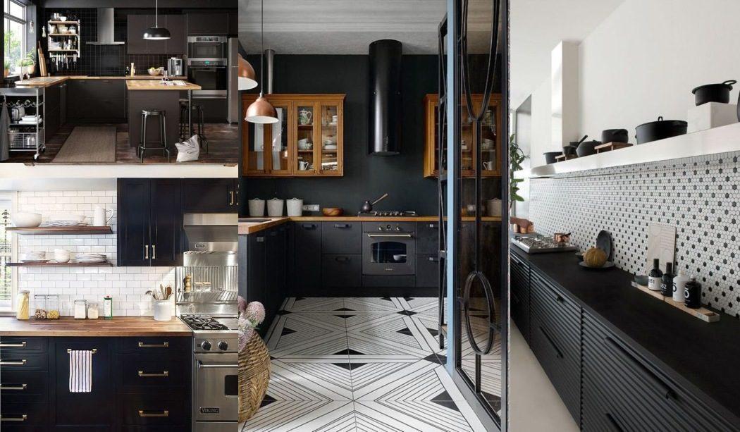 Decoraci n hogar ideas y cosas bonitas para decorar el hogar - Cocinas negras ...
