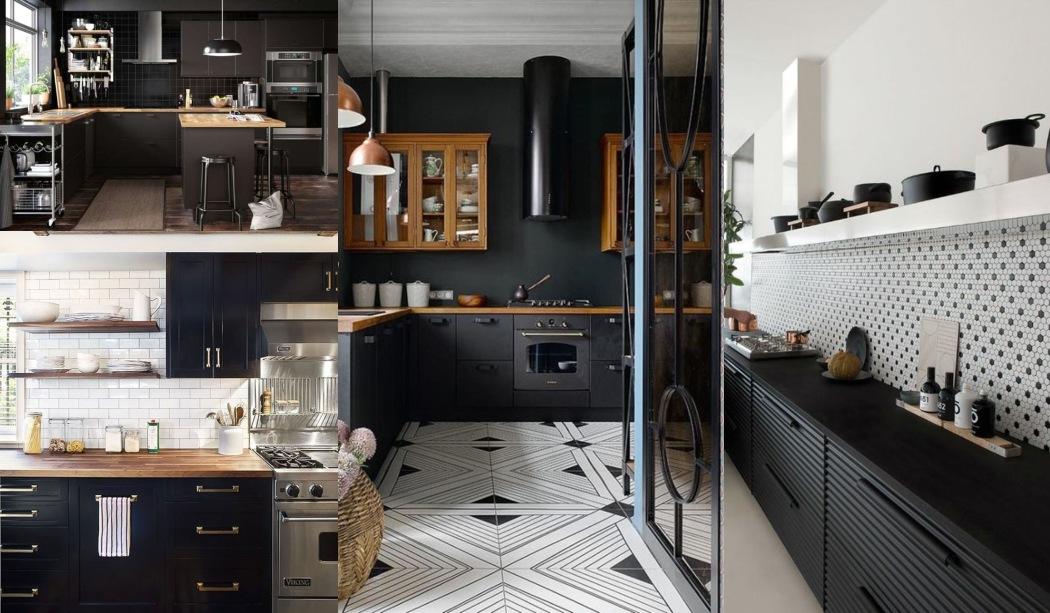 22 Cocinas negras que querrás copiar