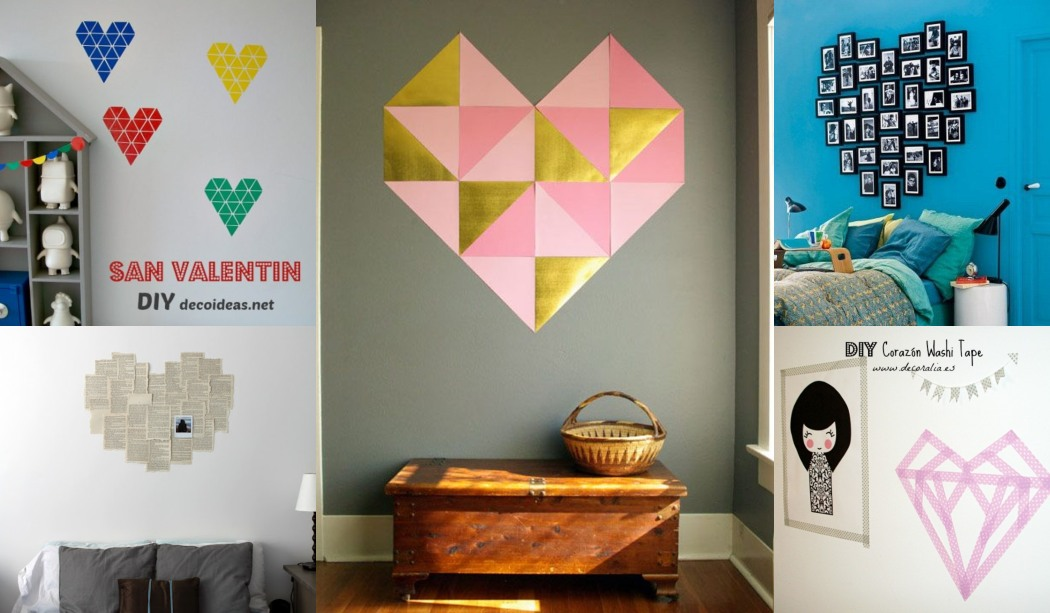 DIY Corazón en la pared 6 Ideas perfectas para San Valentín