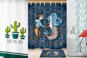 Cortinas de ducha originales que transformarán tu baño por poco dinero