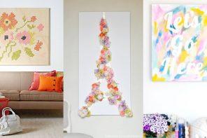 Decora tus paredes con obras de arte caseras – 6 Ideas