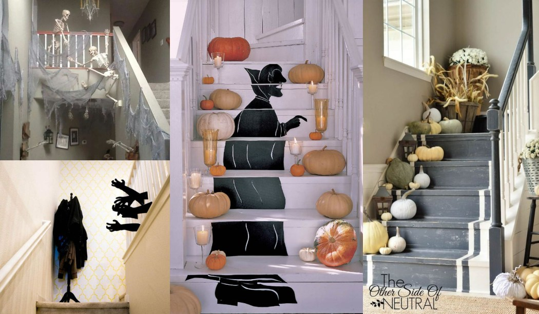 Decoración escaleras Halloween