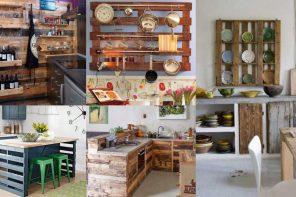 Decorar cocinas con palets reciclados ¡Muchas ideas!