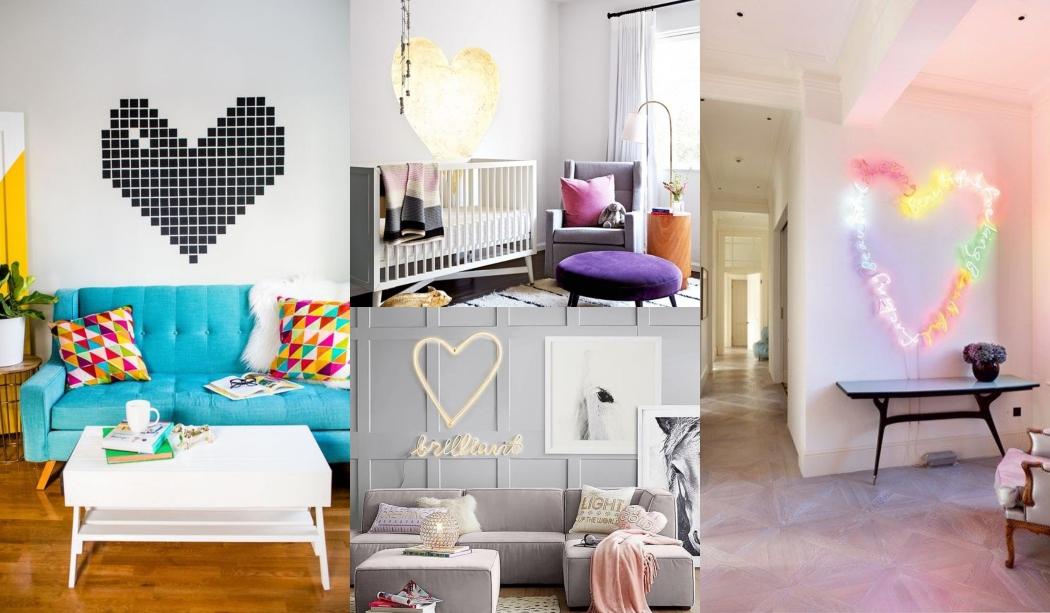 Ideas para decorar con corazones tu hogar
