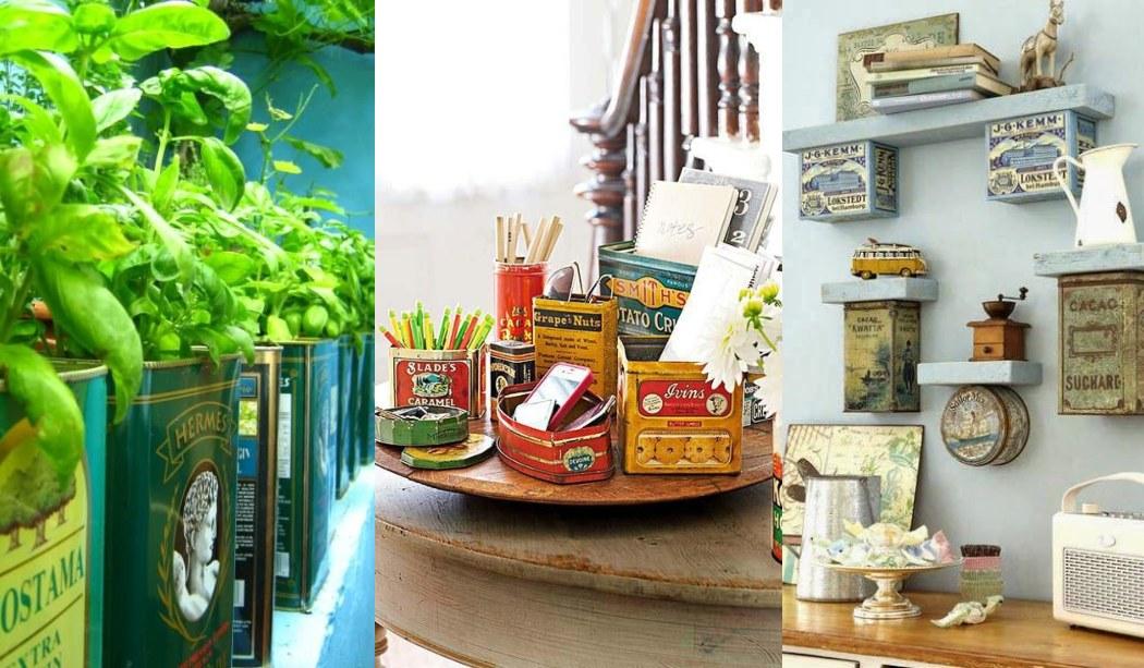 Decorar con latas nuestro hogar + Ideas DIY