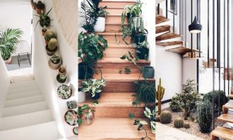 Decorar escaleras con plantas ideas
