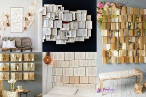 Decorar la pared con libros – 11 Ideas inspiradoras