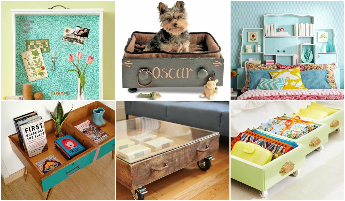 17 ideas geniales para reciclar cajones de muebles for Muebles para reciclar