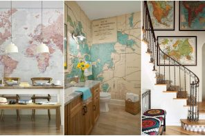 Ideas para decorar con mapas * 28 Fotos de ambientes decorados
