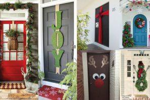 Inspiración para decorar puertas de Navidad (+ 20 FOTOS)