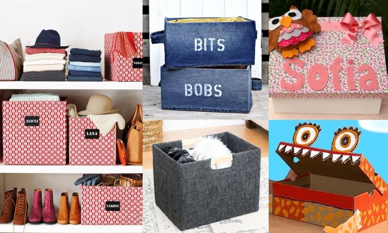 Manualidades para organizar con cajas de cartón