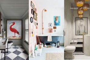 Obras de arte en el baño ¿Por qué no? (10 FOTOS)