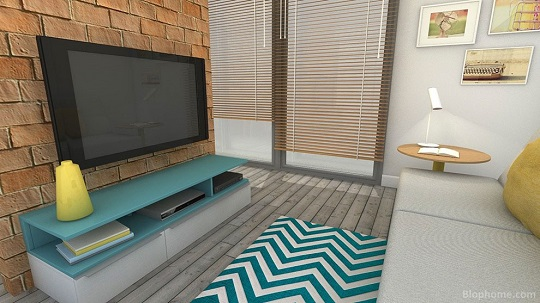 Proyecto realizado en 3d con muebles de Smartmobel.