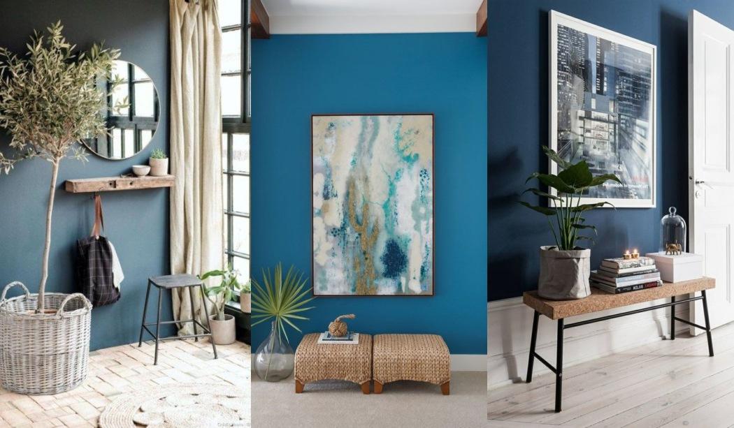 Recibidores decorados en azul, recibidores azules