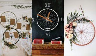 eciclar las ruedas de la bicicleta también vale y te salen unos complementos decorativos monísimos. Te mostramos todo lo que puedes hacer con ruedas de bicicleta recicladas. ideas
