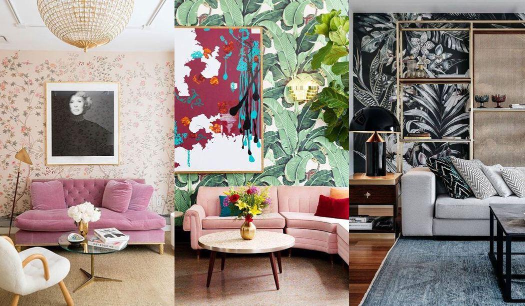 25 salones decorados con papel pintado