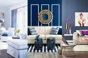 Salones decorados en azul -24 Fotos de salones azules