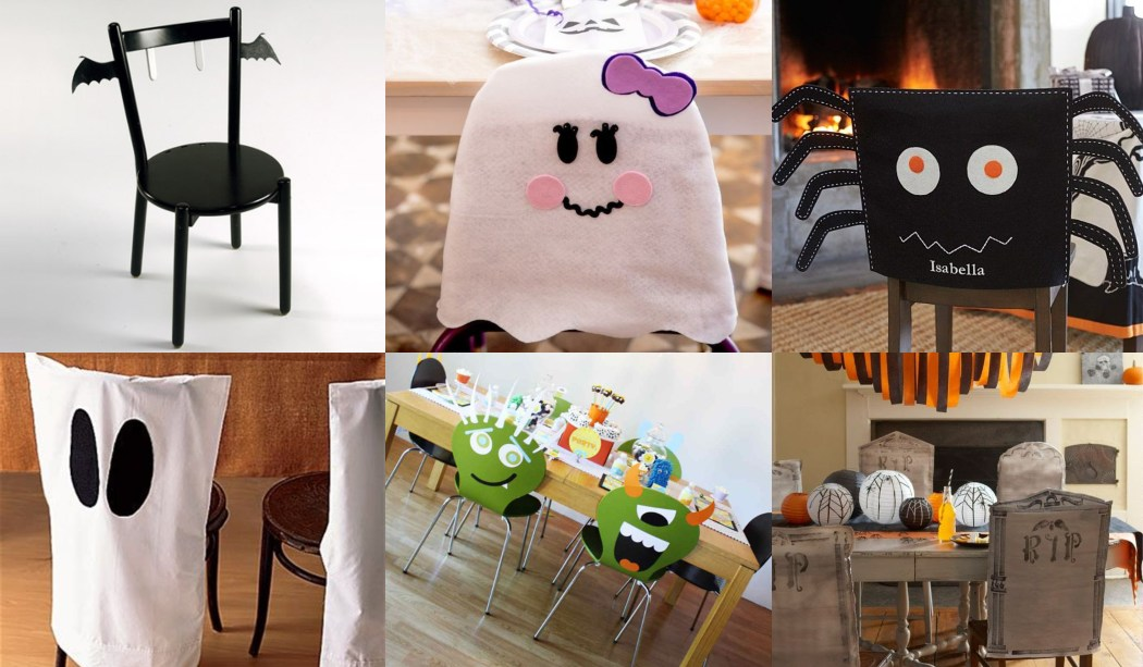 Sillas decoradas para Halloween (10 Ideas)