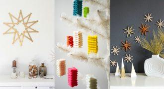 Adornos navideños caseros, manualidades originales