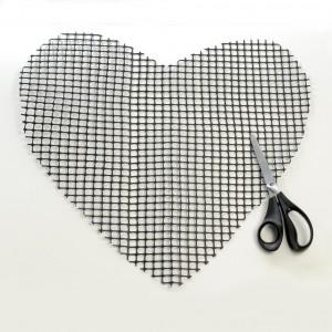 Alfombra corazón DIY