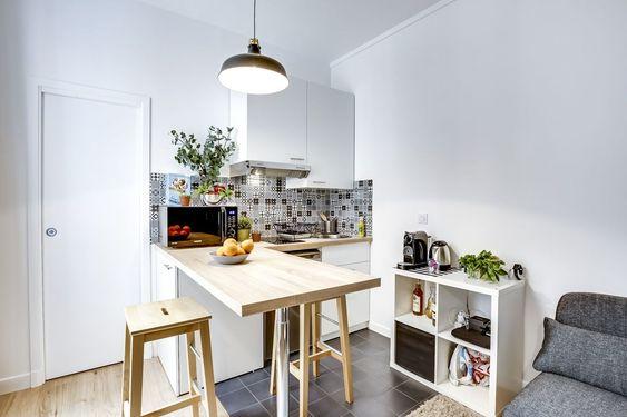 Cocina en apartamento pequeño