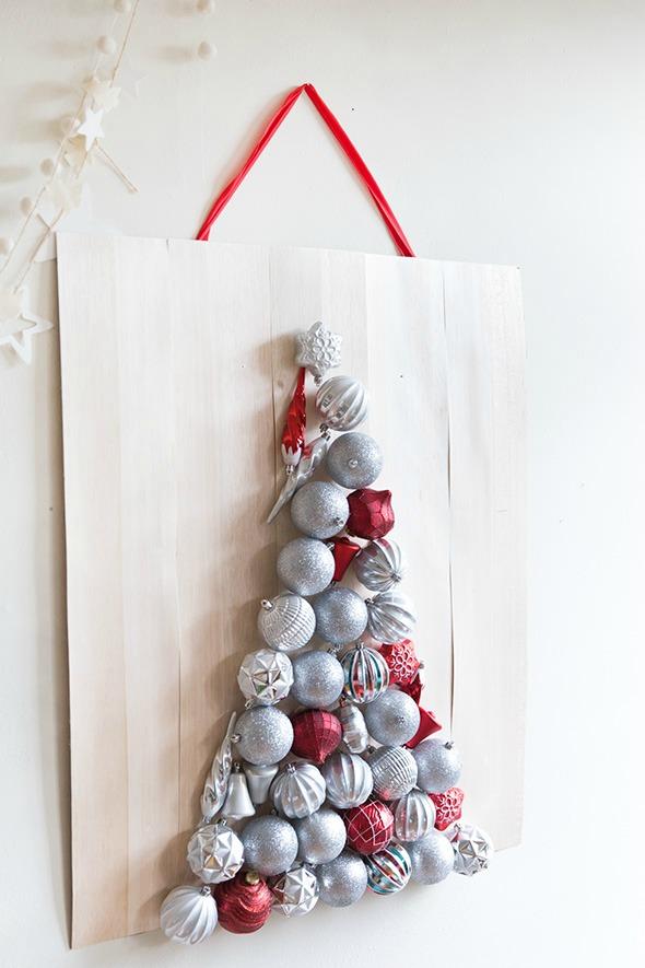 Un árbol de Navidad casero