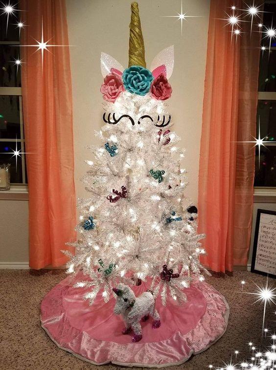 Árboles de navidad unicornio