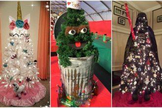 Los árboles de navidad más extraños