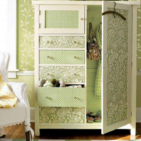 Armarios decorados con papel pintado - Rivestire mobili ...