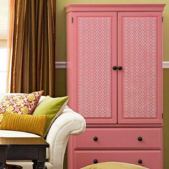 armarios decorados con papel pintado