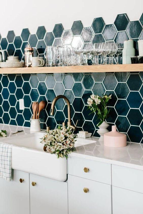 Baldosas hexagonales para la cocina