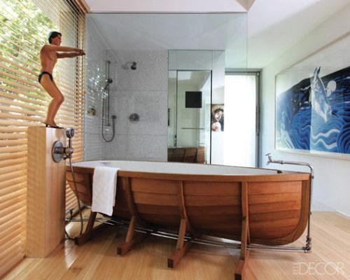 bañera con forma de barca