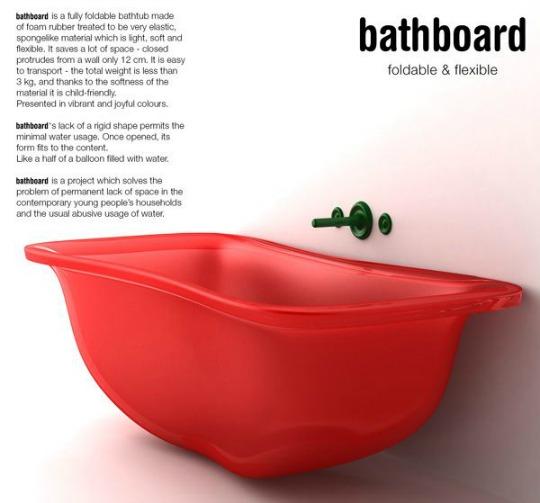 Una bañera para pequeños espacios